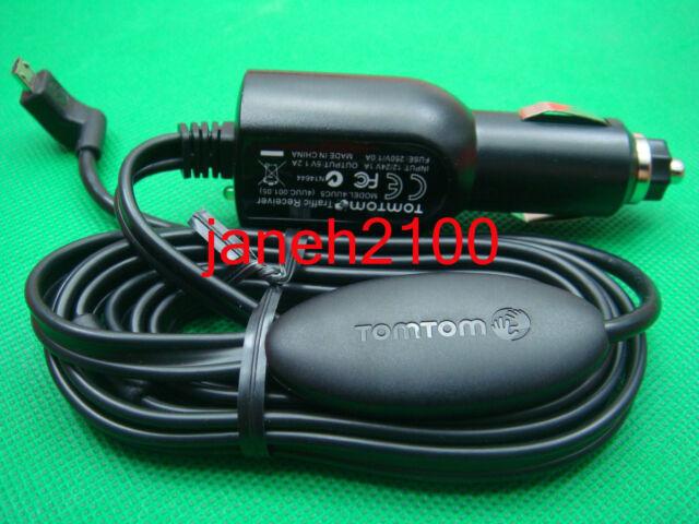 NEW TomTom USB LT Traffic Receiver Car Charger VIA 1400 1405 1435 4UUC5B TMC-RDS