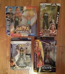Lot De 4 Wwe Mattel Elite Flashback Hbk Triple H Route Dogg Billy Gunn X-pac Dx