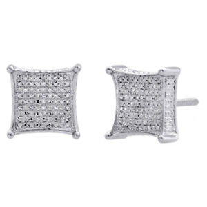 Diamant Sterling Silver Fashion Jewelry Gift Halo Clous d/'oreilles 1//4 carats T.W