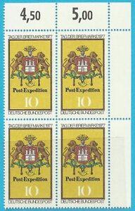Franc Ceinture De 1977 ** Cachet Minr .948 Groupe Bloc Avec Coin En Haut Re-timbre!-afficher Le Titre D'origine