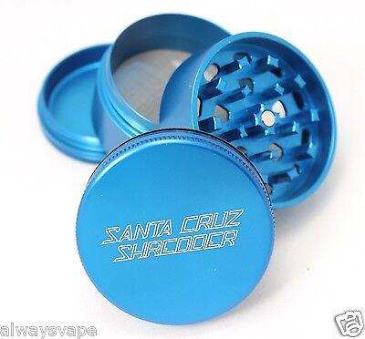 "Santa Cruz Shredder Herb & Tobacco Grinder Medium 2.2"" 4 Piece Aluminum Blue"