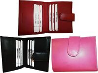 Lot of 3 New Ladies Leather Black pink Red Wallet, Card slots Billfold coin case