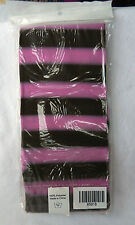 Pink and Brown Stripe Footless Tights - Medium - BNIB