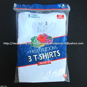 CHEAPEST-HERE-FRUIT-OF-THE-LOOM-3PACK-MEN-039-S-CREWNECK-WHITE-T-SHIRTS-MEDIUM-BNEW