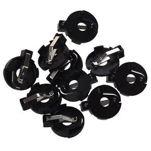2 Pcs CR2016 2025 2032 Coin Cell Button Battery Holder Socket Black