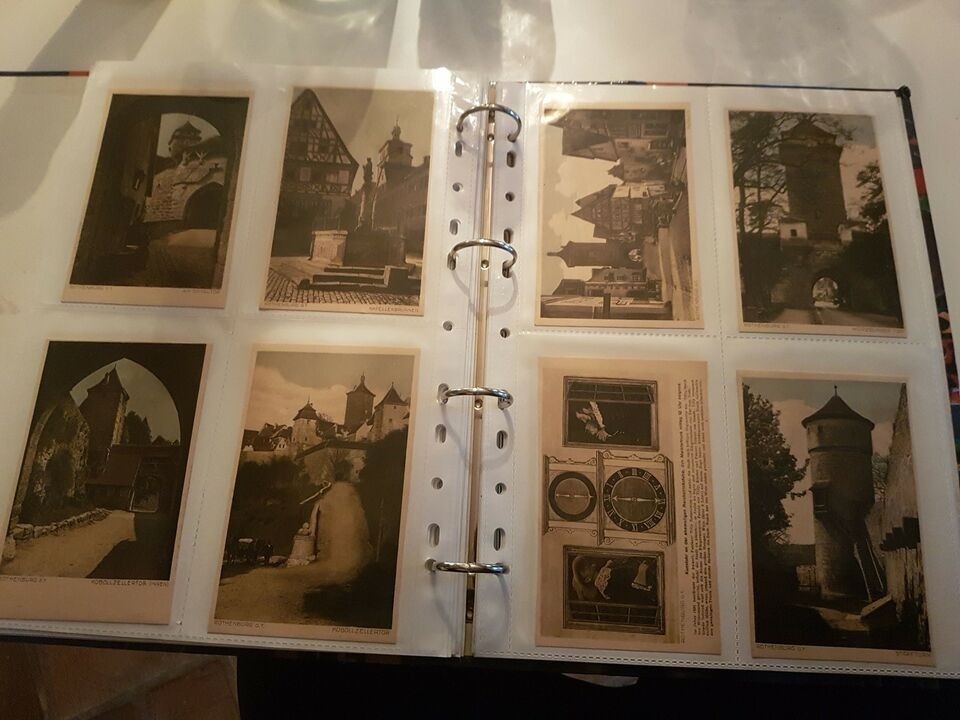 Postkort, Mappe m. postkort