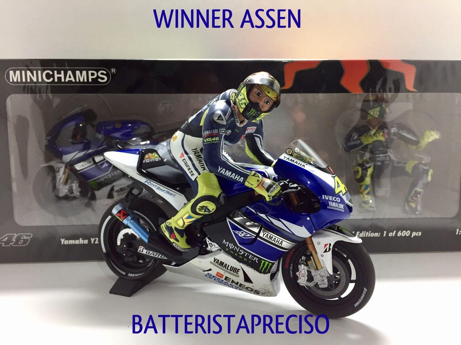 MINICHAMPS VALENTINO ROSSI 1 12 SET YAMAHA + FIGURE 2013 WINNER GP ASSEN NEW