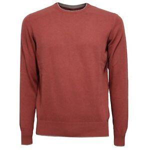 Eleventy Cotton 8405w Red Men brown Uomo Sweater Maglione wpEqxErY