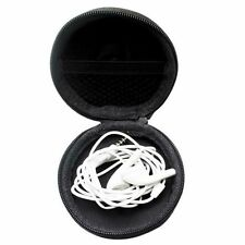 Mini Round Hard Storage Case For Card Headphone Earphone Earbuds Black Color