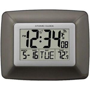 La Crosse Technology Atomic Digital Wall Clock With Indoor Temperature Lcrws8008u