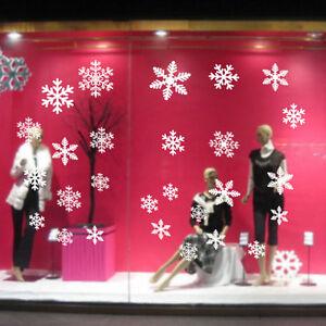 Finestra-di-Natale-Snow-Flake-Adesivi-Natale-Decorazioni-Invernali-SL