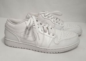 cd0c5ea6c25071 EUC Nike Jordan Men s Air Jordan 1 Low Basketball Shoes Triple White ...
