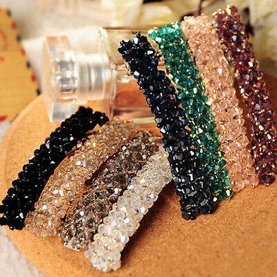 Fashion Women Girls Bling Headwear Crystal Rhinestone Hair Clip Barrette Hairpin