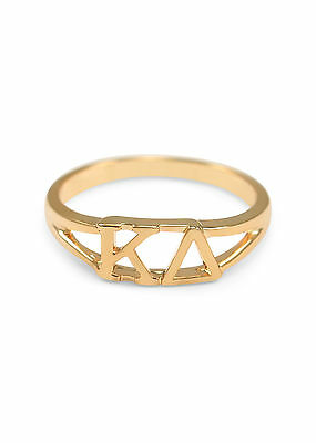 Kappa Delta sunshine gold ring with cut-out letters, NEW!!***