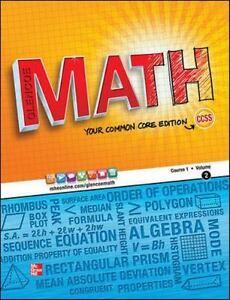 Y105 16a Glencoe Math Course 1 Vol 2 6th Grade 9780076618392 Ebay