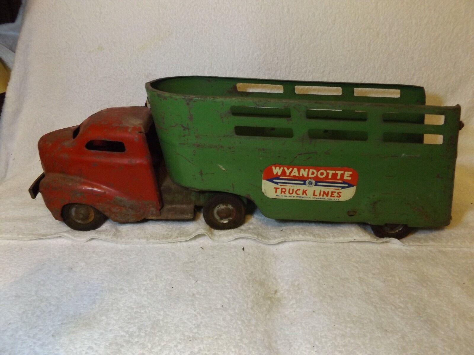 Vintage década de 1940 Wyandotte Toys-Wyandotte camión líneas Semi -- 24  largo -- muy agradable
