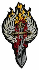 BURNING SWORD WITH WINGS MC PATCH