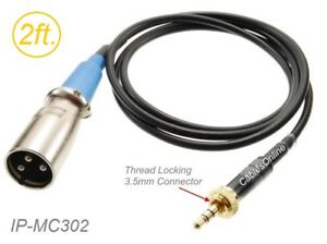 2ft-3-5mm-TRS-Locking-Male-to-XLR-3-Pin-Male-Cable-for-Sennheiser-Sony-Mic-Syst