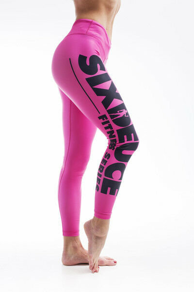 Six Deuce All Coloured Fitness Leggings Pink Bodybuilding Fitness   new exclusive high-end