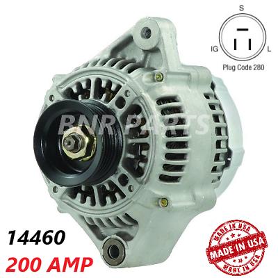 200 Amp Output High Performance NEW HD Alternator Lexus SC300 Toyota Supra Turbo