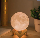 8CM 3D Moon LED Night Light Moonlight Base Table Desk Magical gift Moon Lamp