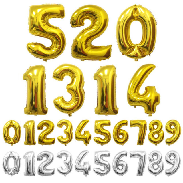 """Gold Number Eight 8 Balloon 32.5/"""" Foil Mylar 8th 18th Birthday Party Decoration"""
