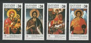 Bulgaria-1989-Religion-Art-Paintings-Icons-4-MNH-stamps