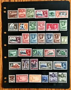 British-Colonies-Stamp-Collection-5-Pages-MNH-MH-See-Scans-Free-Ship