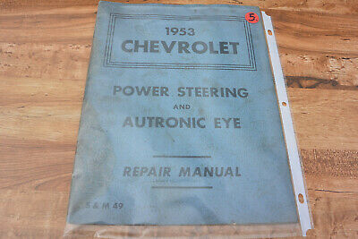 1959 CHEVROLET IMPALA BISCAYNE BEL AIR ALL MODELS AUTRONIC EYE INST TAG 1953