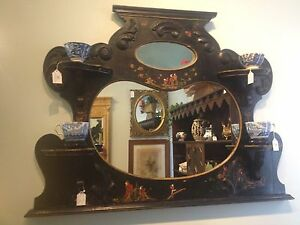Antique Ornate ASIAN Chinese Asian Mirror decorative