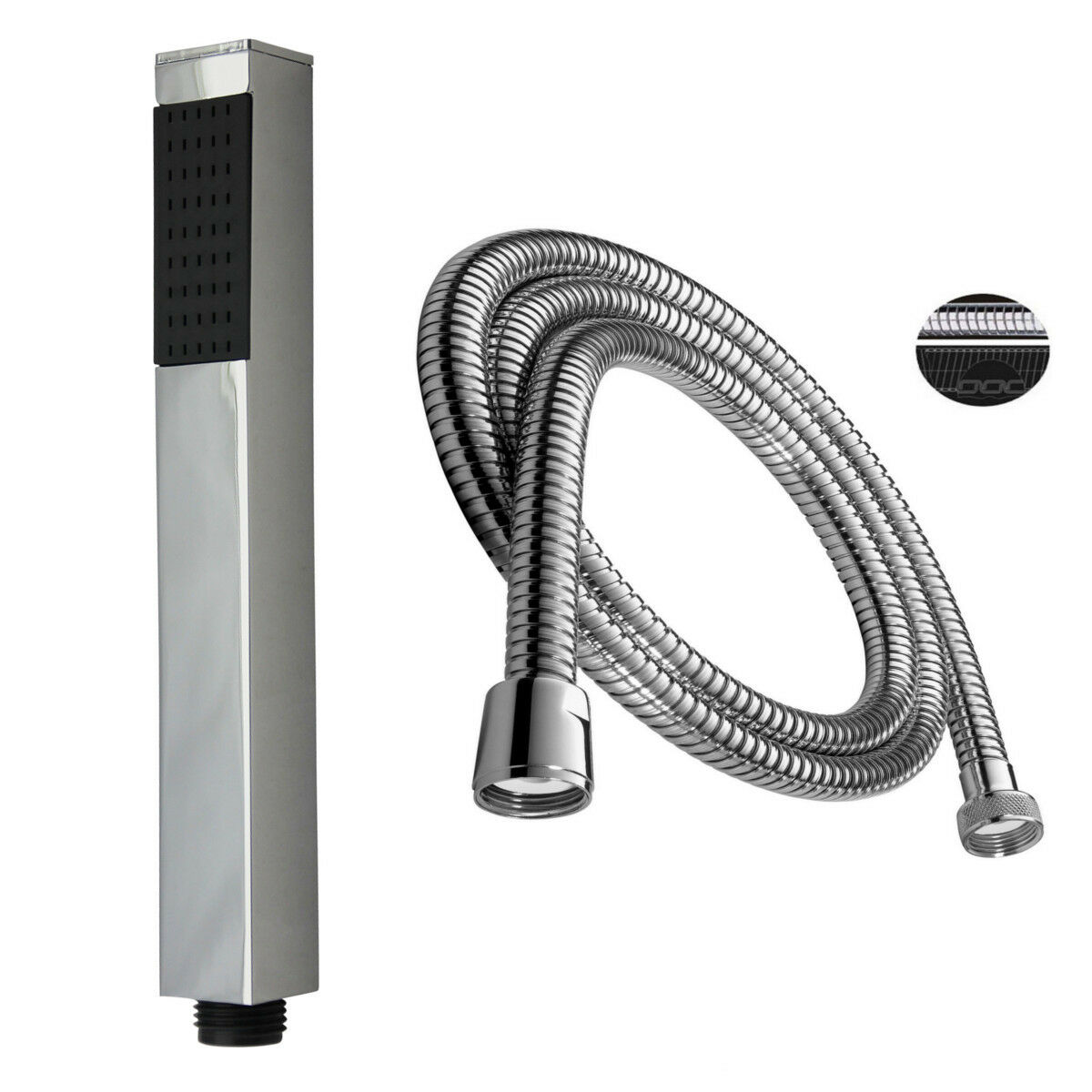Soffione quadrato Ottone con tubo flessibile Stabrause Quadro Quadro Quadro doccia 2a5166