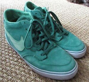 sale retailer 910a0 d648e Image is loading Nike-Braata-LR-Mid-Premium-Green-Sneakers-458699-