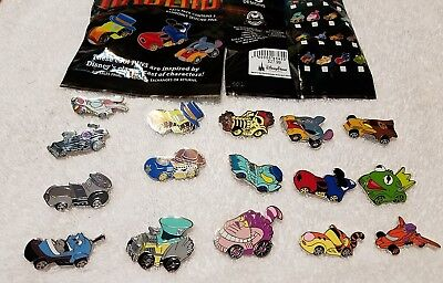 Disney Pins Racers Complete Set Of 16 Authentic Free Ship