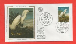 FDC - J. J. Audubon-Egret Nieve (411)