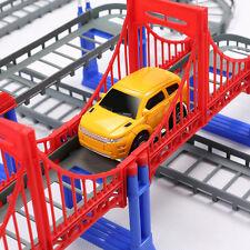 122pcs Electric Rail Cars Spiral Track Slot Educational Kids DIY Toy Playset