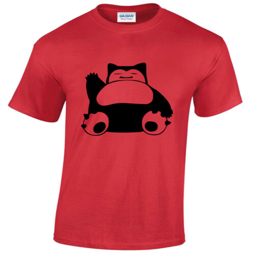 Snorlax T-Shirt Mens  funny top gift tee