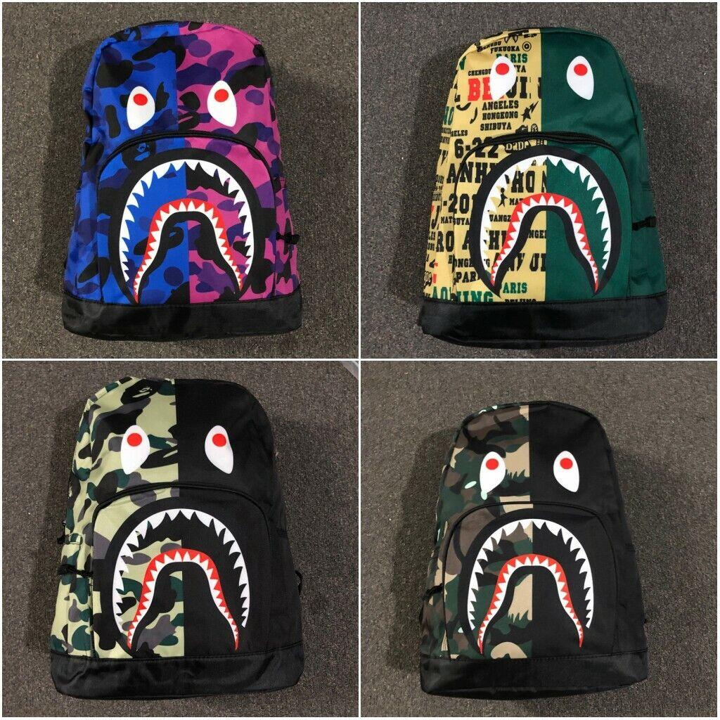 Bape A Bathing Ape Camouflage Backpack Bookbag Student Schoo