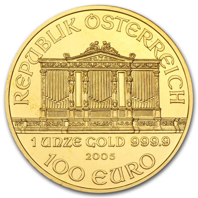 2005 Austria 1 oz Gold Philharmonic BU - SKU #74674
