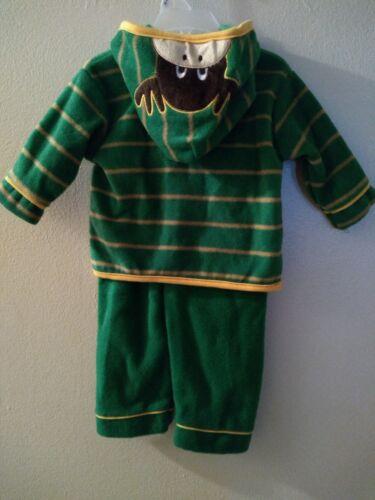 Mon Petit Moose Zipper Hood Two Piece Jacket Pants Set Size 6-9 Months Girl Boy