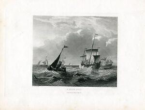 A-Brisk-Gale-Engraved-By-J-H-Kernot-Over-Artwork-Of-W-Vandervelde