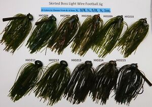 Unskirted Weedless Heavy Wire DC Arky Jig w//Mustad Hook Black Colors