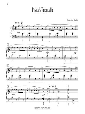 Pirates Tarantella Late Intermediate Piano Solo Sheet