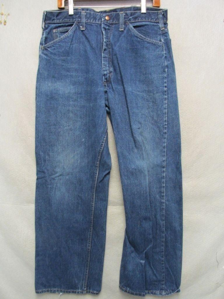 D7280 JCPenney Big Mac Deep Indigo High Grade 70's Jeans Men's 34x29