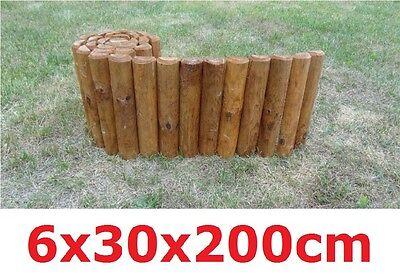 Rollboarder 200 x 30 x 6cm aus 100% Holz Beeteinfassung Beetumrandung Rasenkante