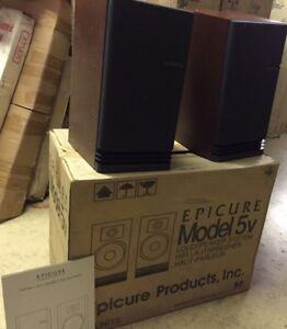 Details about Pair of Vintage Epicure Model 5v 5 Book Shelf Speakers Rare  Sealed in Box!