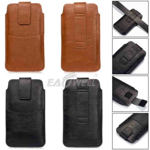 Universal Leather Waist Bag Clip Belt Loop Holster Wallet Case Cover For IPHONE