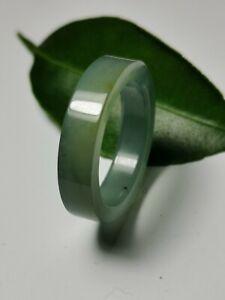 Natural-Ice-Jadeite-Jade-Band-Ring-US-SIZE-11