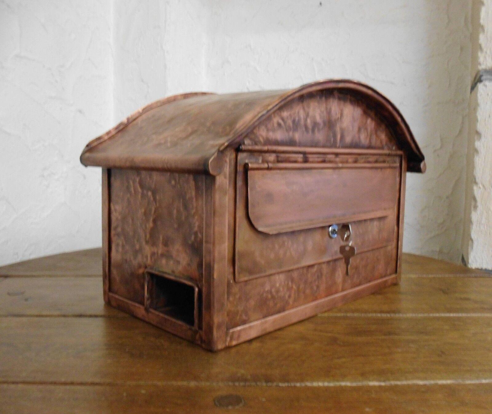 Kupferbriefkasten Briefkasten Postkasten mit oder ohne Zeitungsöffnung NEU