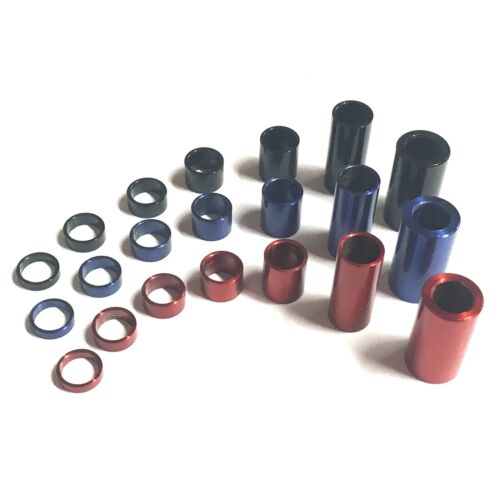 RED BLUE BLACK M6 x 8mm OD Stainless Steel Spacers Standoff Stand Off Collars