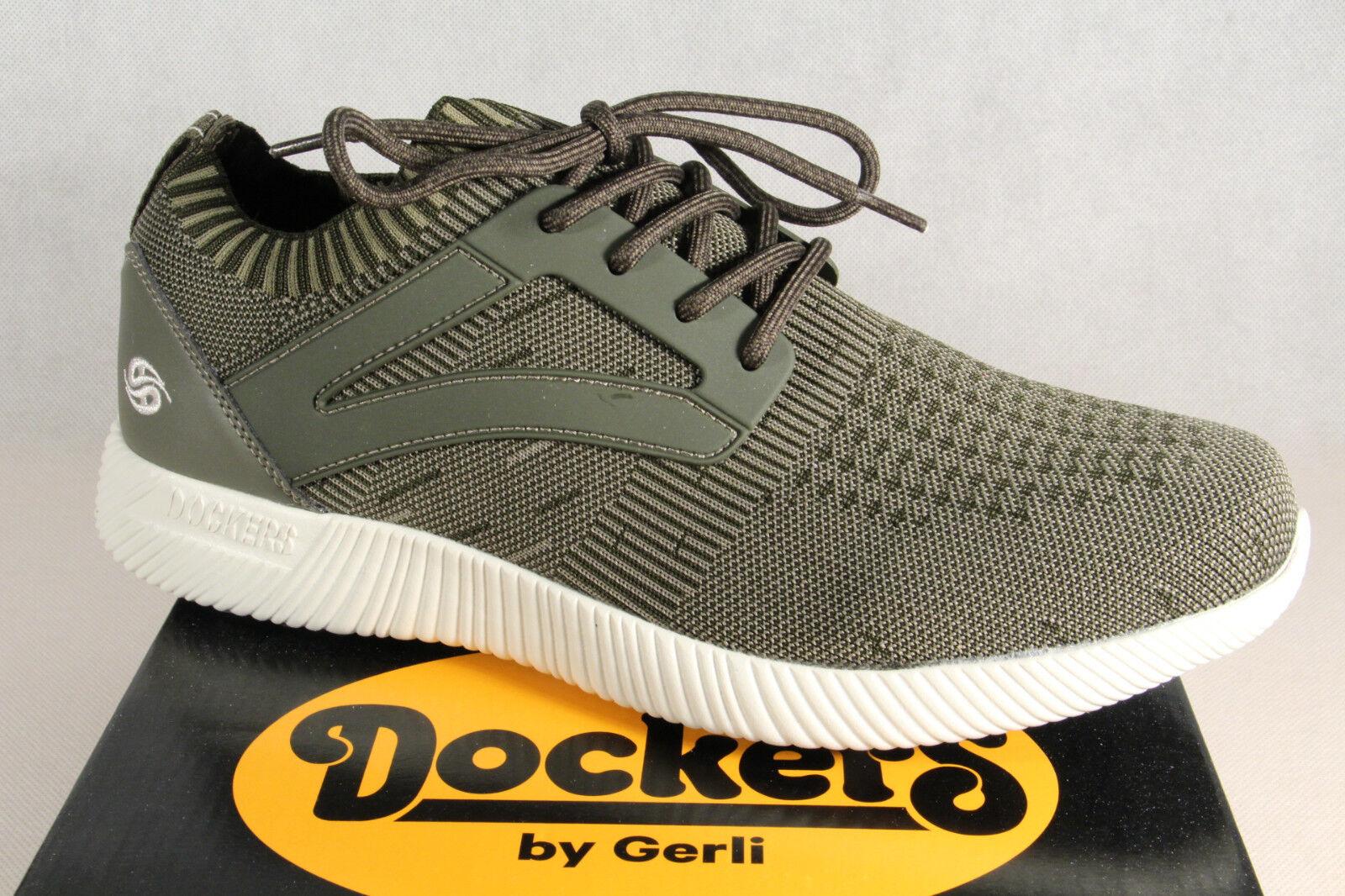Dockers Pantoufles pour Hommes Chaussures à Lacets de Sport Basses Kaki Nouveau